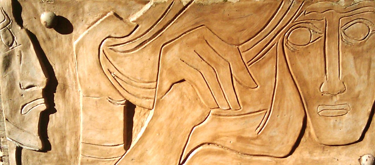 10th station of the cross, closeup