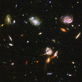 Detail from the Hubble Ultra Deep Field image
