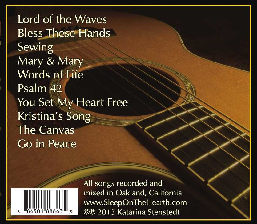 Back cover - Go in Peace CD